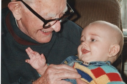 GG (Great Grandad) with his first Great Grandson Kyle James